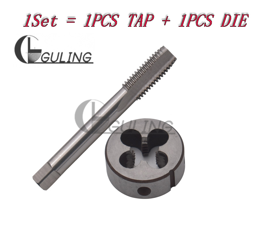 M13/×0.75 HSS Metric Tap And Die Set , Thread Tap And Round Thread Die Right Hand HSS Taper