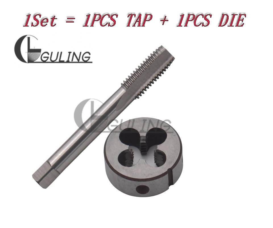 1pc HSS M10 X 1.5mm Plug Left Tap and 1pc M10 X 1.5mm Left Die Threading Tool