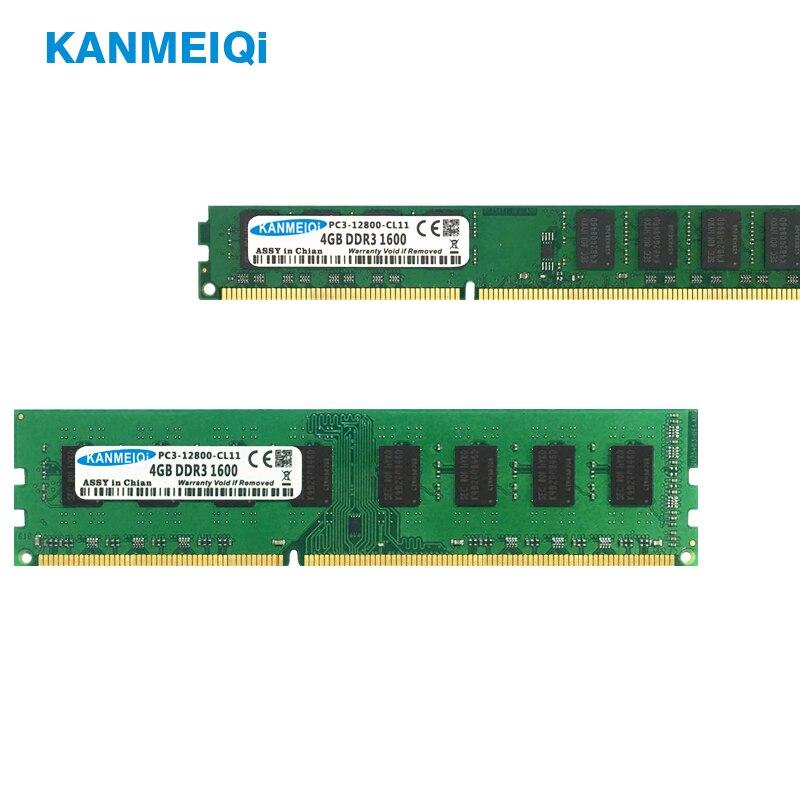 KANMEIQi DDR3 2GB/4GB/8GB 1333mhz/1600MHz Desktop RAM Memory 4