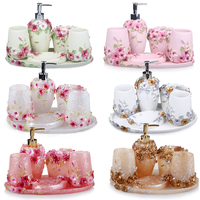 5/ 6pcs Resin Bathroom Accessories Sets/Dispensers/Dishes/Toothpaste Holders/tray/Bathroom Tumblers/kitchen Bathroom Products