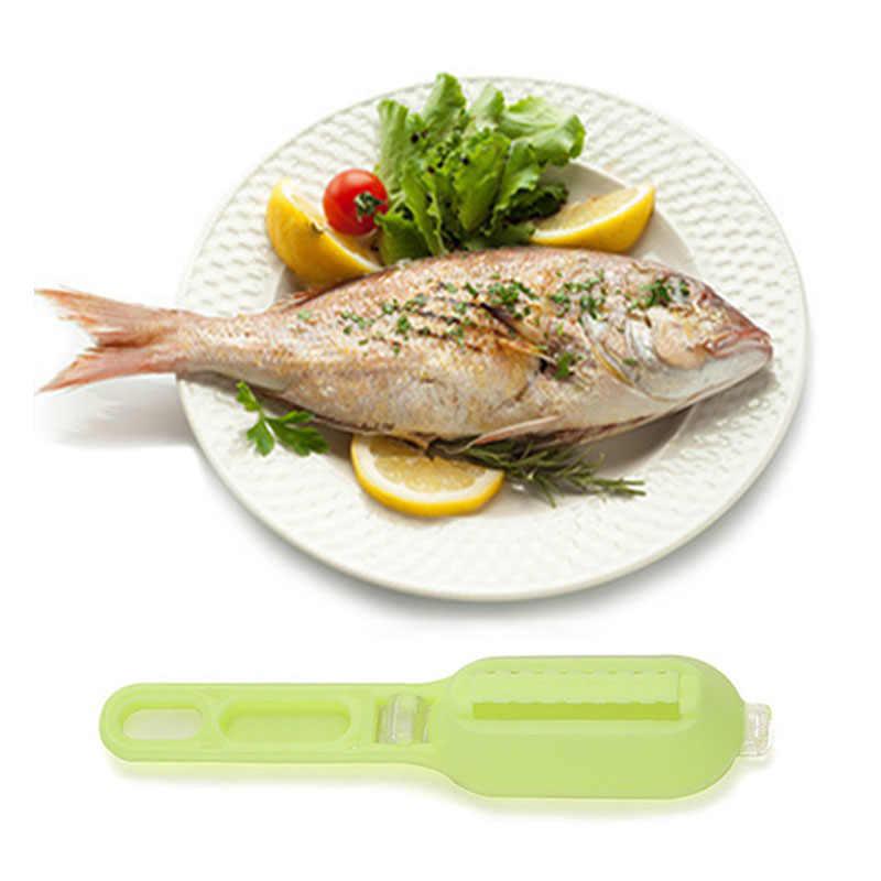 Di alta Qualità di Plastica di Pesce Bilancia Remover con Coperchio Da Cucina Per Uso Domestico Manuale Pesce Bilancia Coltello