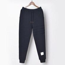 THOM 2021 TN men's Jacquard striped long pants fahsion cotton sweatpants men mid waist jogging pants youth sport trousers