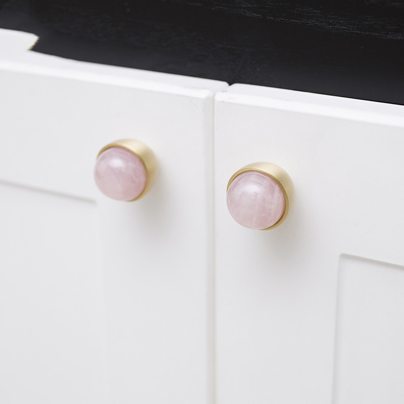 Nordic luxury brass crystal cabinet knobs and handles wardrobe furniture stone dresser drawer pulls knobs jewelry armoire