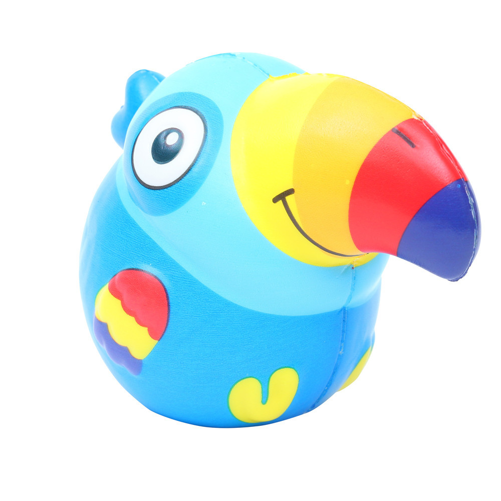 Squeeze Cute Toucan Slow Rising Toys Soft PU Modeling Novelty Toys Antistress Decompression Toy Gift Kids Toys Doll #B