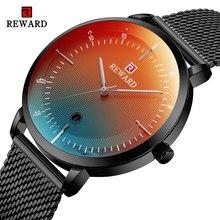 Relógio de pulso de negócios de aço inoxidável relógio de quartzo à prova dwaterproof água