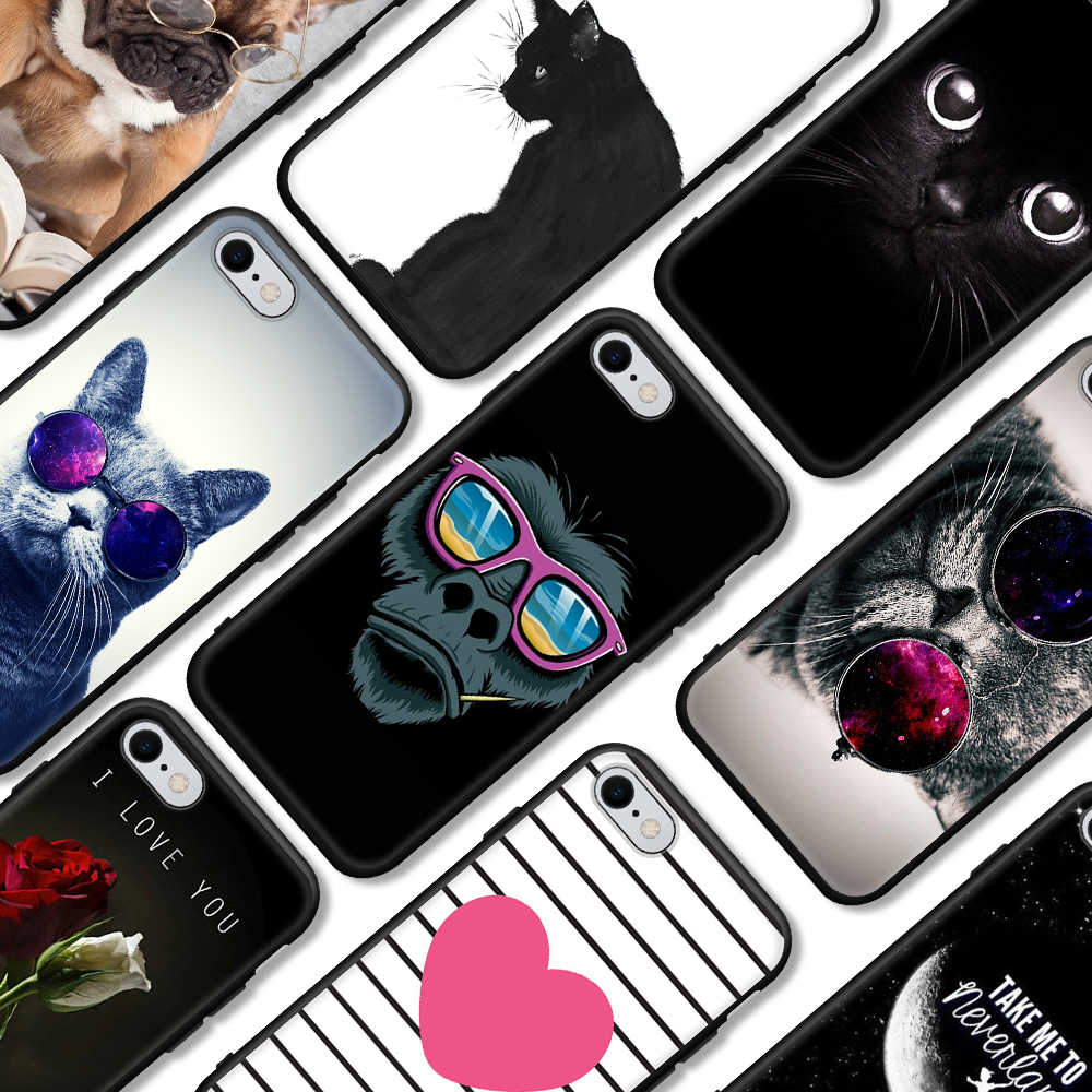 الهاتف حقيبة لهاتف أي فون SE 5 S 5 S 6 6S 7 8 زائد XS ماكس لينة سيليكون TPU رقيقة جدا زهرة الزهور الغلاف الخلفي ل فون XS XR حالة