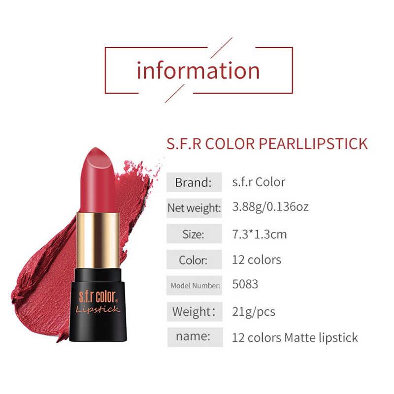 12 Colors Nude Matte Lipstick Waterproof Moisturizing Long Lasting Lipstick Lips Makeup Rouge A Levre Matte Longue Tenue TSLM2