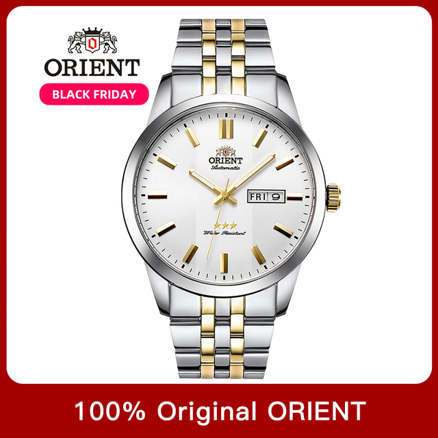 100% オリジナルオリエント 3 スター腕時計ビジネス自動機械式時計ファッションメンズ腕時計 5 バー耐水性発光手