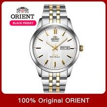 100% Originele Orient 3 Ster Horloge Business Automatische Mechanische Horloge Mode mannen Horloges 5 Bar Water Weerstand Lichtgevende Hand