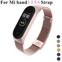 Für Xiaomi Mi Band 6 4 5 Strap Handgelenk Metall Armband Schraubenlose Edelstahl MIband für Mi Band 4 3 5 Strap Armbänder Pulseira