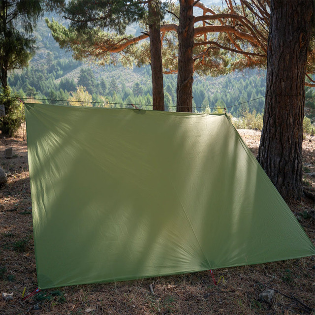 FLAME'S CREED Ultralight Tarp Lightweight MINI Sun Shelter Camping Mat Tent Footprint 15D Nylon Silicone 160g Tenda Para Carro 2