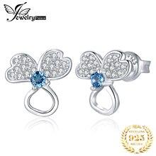 JewelryPalace подлинная Лондон голубой топаз серьги стерлингового серебра 925 женщин корейской ювелирные изделия Серьги 2020