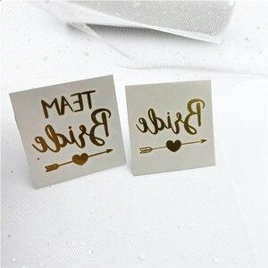 Image 2 - 複合販売 (10 + 1) 個チーム花嫁は独身花嫁パーティータトゥーステッカー装飾マリアージュブライダルシャワー