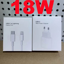 Original 18W USB Type C Charger Adapter For iPhone 11 Pro XR X XS Max 8 Plus 12 Fast Charging EU Plug Travel Charger for Apple