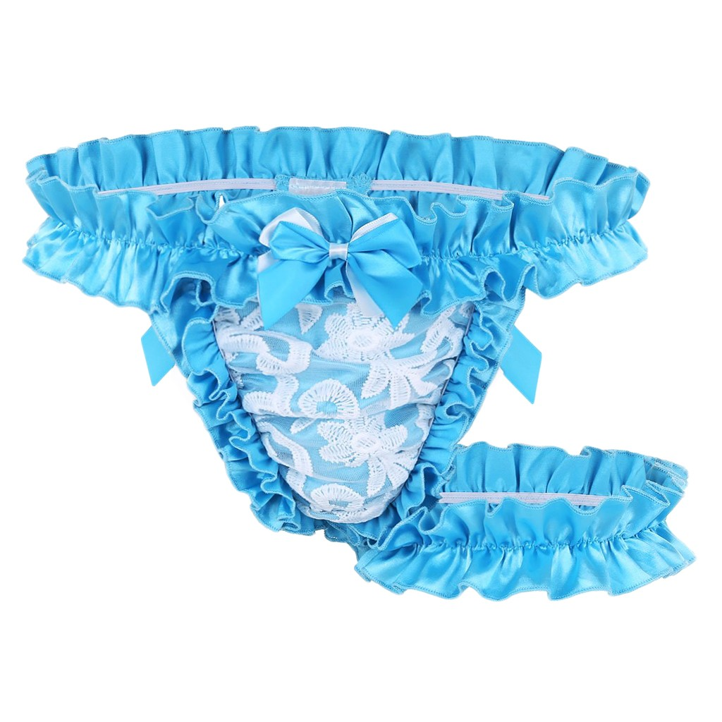 Plus Size Men Lace Briefs Underwear Enhance Penis Pouch Sexy Underwear Men Erotic Transparent Low Rise Sissy Gay Underwear