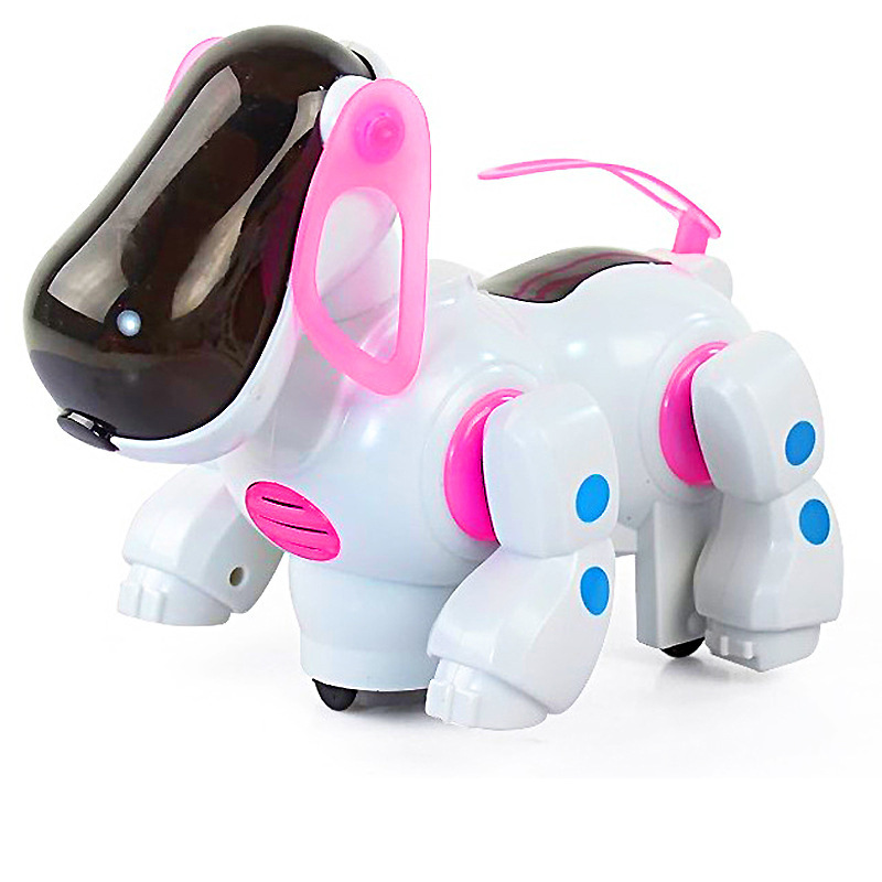 Manufacturers Direct Selling Creative-Plastic Robot Dog Boy Light Music CHILDREN'S Toy Electronic Pet Dog