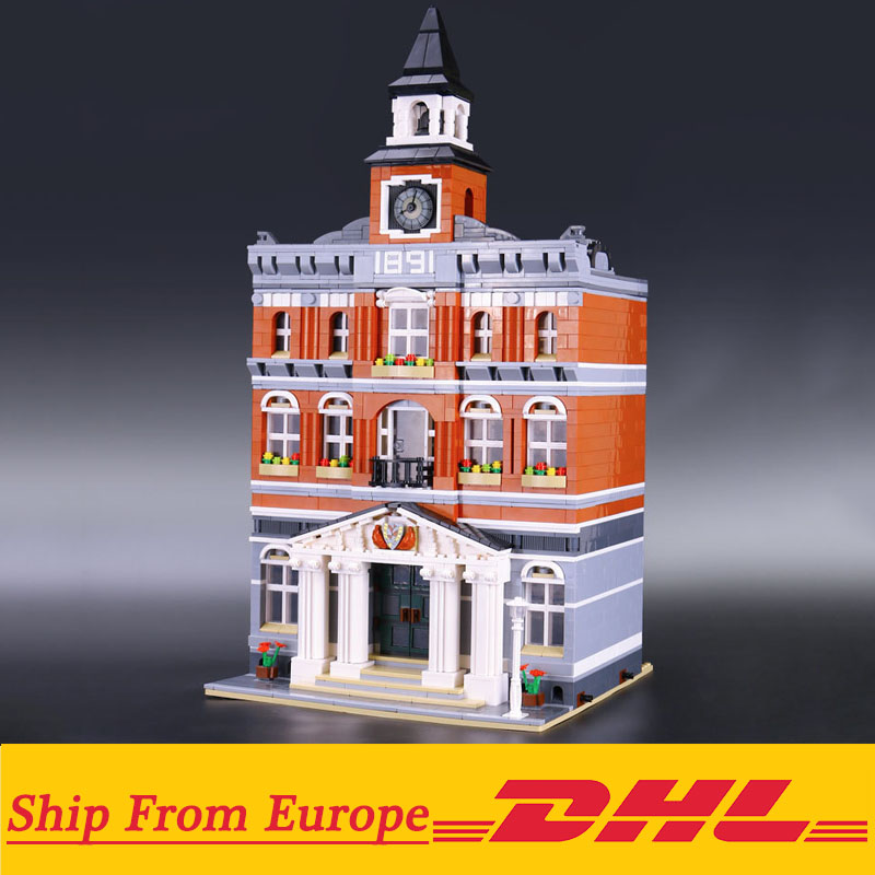 15003 Creators the city hall model Building Blocks set Compatible with Legoings 10224 classic house architecture toys 1