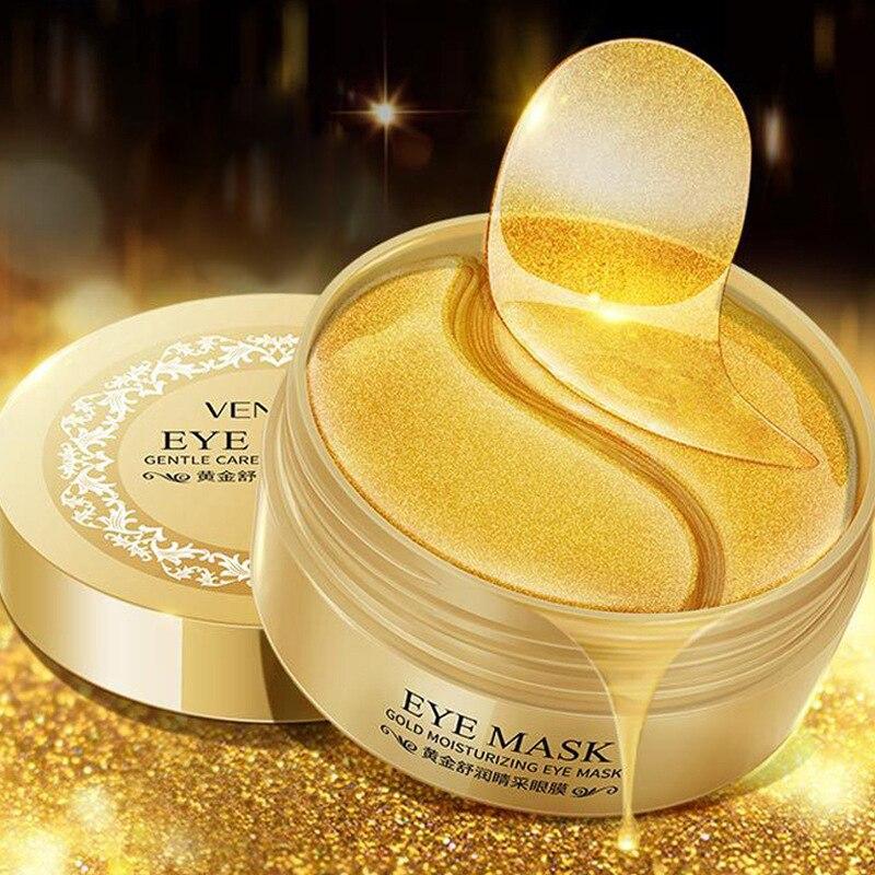 60 Pcs Gold/Seaweed Collagen Eye Mask Face Anti Wrinkle Gel Sleep Gold Mask Eye Patches Collagen Moisturizing Eye Mask Eye Care