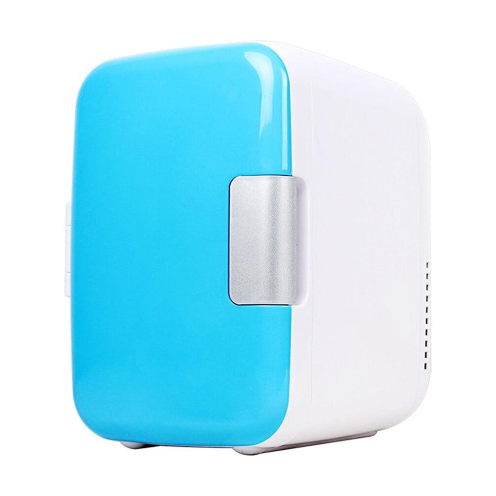 Mini Fridge Electric Home Mini Refrigerator Fridge Home Mini Dual-Use Portable 4L 220V/12V Dormitory Cans Beer Cooler