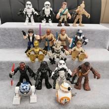 10/20 pçs estrela desperta bb8 skywalker robô R2 D2 stormtroopers vader chewbaccas pvc figura de ação modelo brinquedos presente para crianças