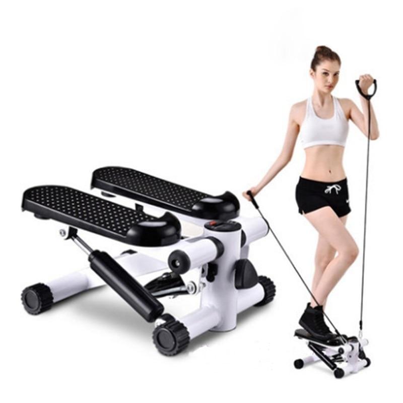Маленький Педальный шаговый тренажер для ног, для тренировки талии и бедер, многофункциональные бесшумные шаговары с выдвижным шнуром, для ...