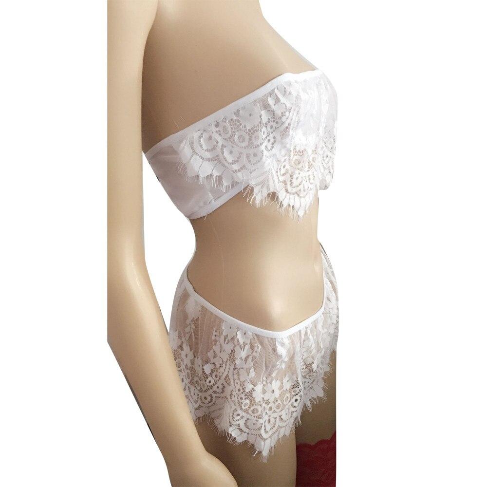 Lingerie Set Lingerie Women Underwear Babydoll Sleepwear Lace Bra Dress G-string Set европейская одежда American Clothing