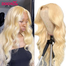 613 Blonde Body Wave Lace Part Human Hair Wigs for Black Women HD Transparent Blonde T Shaped Wigs Preplucked Wave Lace Wig Remy