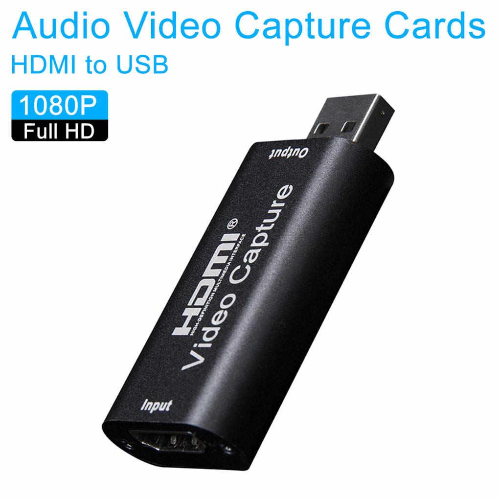 미니 비디오 캡처 카드 USB 2.0 HDMI 비디오 그래버 레코드 박스 게임 DVD 캠코더 HD 카메라 녹화 라이브 스트리밍