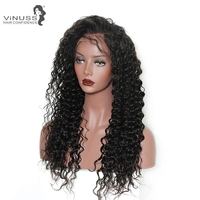 Peruvian Long Kinky Curly Human Hair Wig Glueless Lace Front Human Hair Wig With Baby Hair Pre Plucked Remy Hair 150 Density