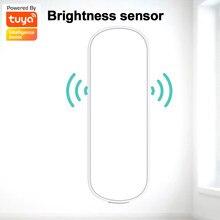 Tuya zigbee inteligente sensor de luz sem fio brilho sensor iluminação detecção brilho vida inteligente trabalho com gateway inteligente