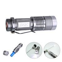 Fonte de luz fria portátil de led 4w 400lm metal adequado para endoscópio