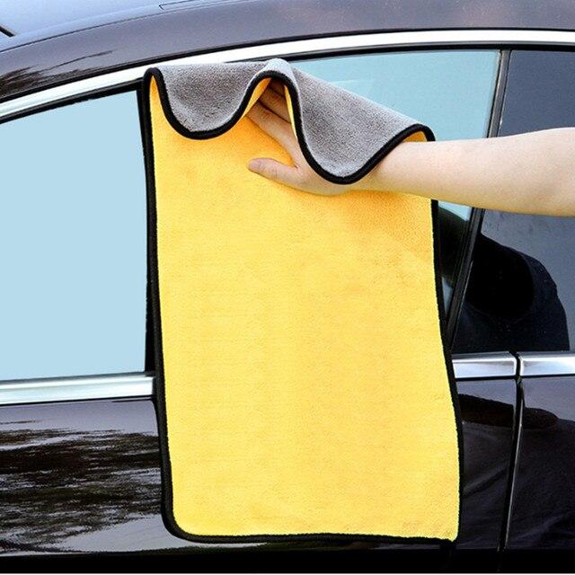 3 sztuk 800GSM Super ręcznik z mikrofibry do czyszczenia samochodu Auto mycie szkła do czyszczenia gospodarstwa domowego grube ręczniki akcesoria samochodowe