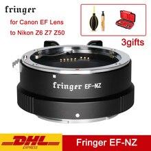 Fringer EF NZ pierścień adapter do aparatu EFS NZ automatyczne ustawianie ostrości soczewki af adapter do canona obiektyw ef do firmy Nikon w Z6 Z7 Z50 EF NK Z mocowaniem Z