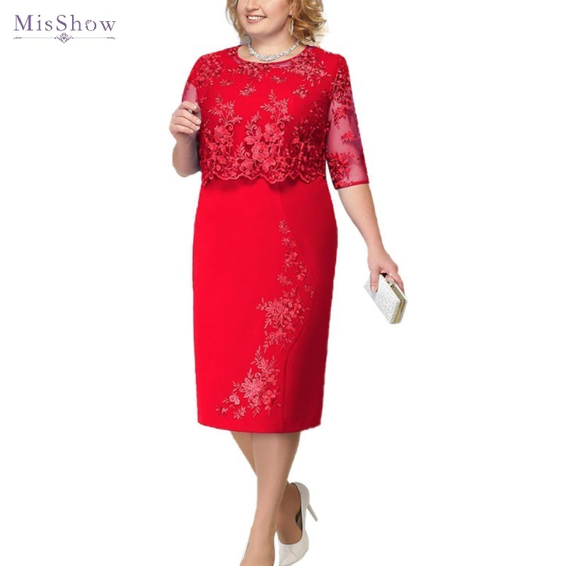 Knee Length Cocktail Dresses 2019 Plus Size Short Coctail Party Gown Elegant Royal Blue Lace Applique Robe Cocktail
