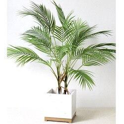 88 см Зеленые искусственные Пальмовые Листья пластиковые растения садовые украшения для дома Scutellaria Тропическое дерево поддельные растения