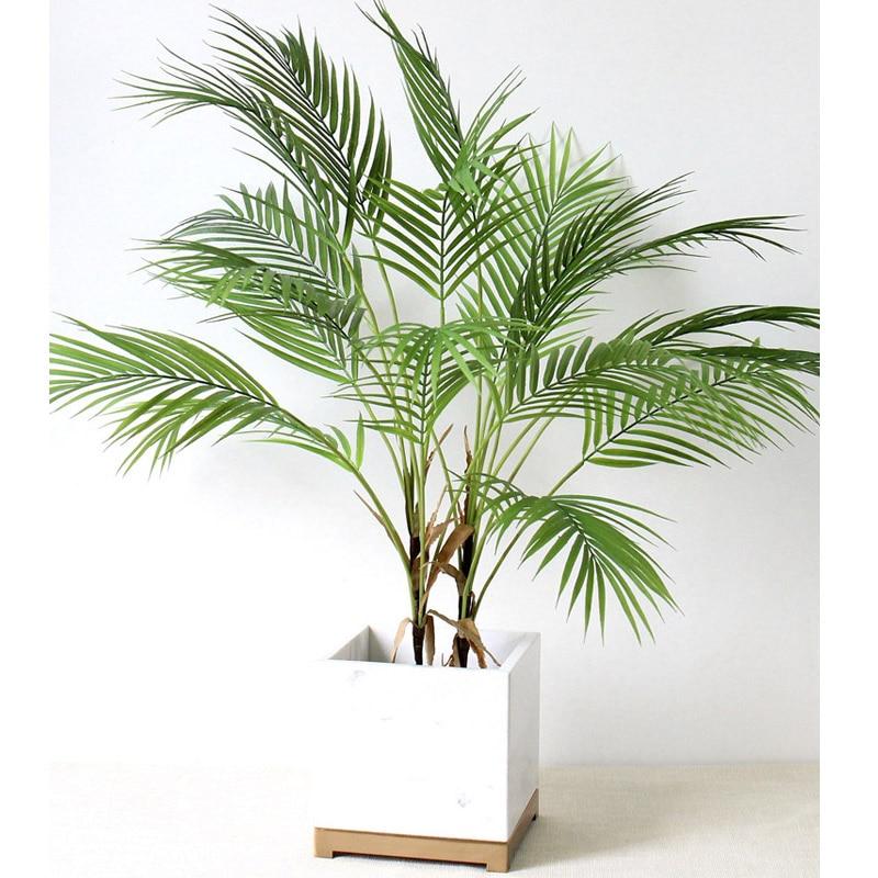 88 CM Green Artificial Palm Leaf Plastic Plants Garden Home Decorations Scutellaria Tropical Tree Fake Plants(China)
