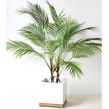 88 CM ירוק מלאכותי עלה דקל פלסטיק צמחי גן בית קישוטי Scutellaria טרופי עץ מזויף צמחים