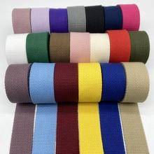 2 jardas 25mm 30mm 38mm algodão fita cinta lona algodão webbing mochila cintas sacos artesanato para cinto saco cão acessórios