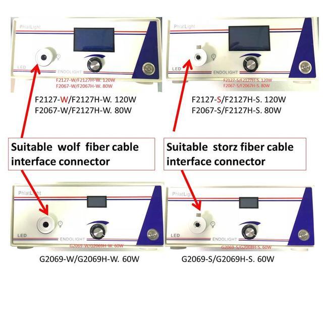 内視鏡光源はストライカー/ウルフコネクタとストルツ/オリンパス/繊維ケーブル光源/fxx