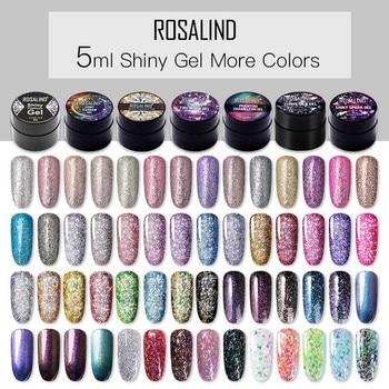 ROSALIND Platinum Gel Nail Art 5ml Hybrid Varnishes Polish UV Manicure Semi Permanent Gel Lacquer Need Base Top Soak Off Nail 1