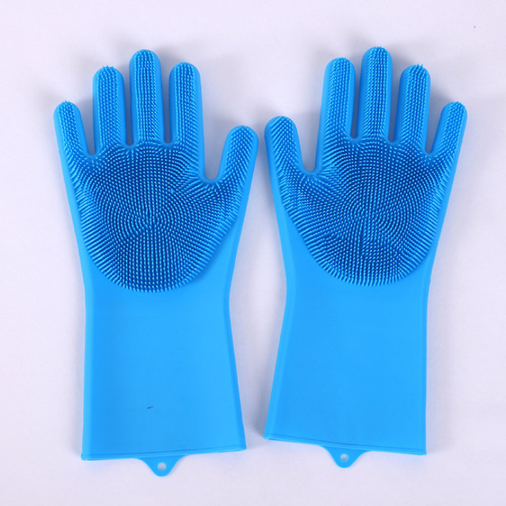 Multifunctional Silicone Gloves Dishwashing Gloves Magic Rubber Dish Washing Glove Household Scrubber Kitchen Clean Tool Scrub