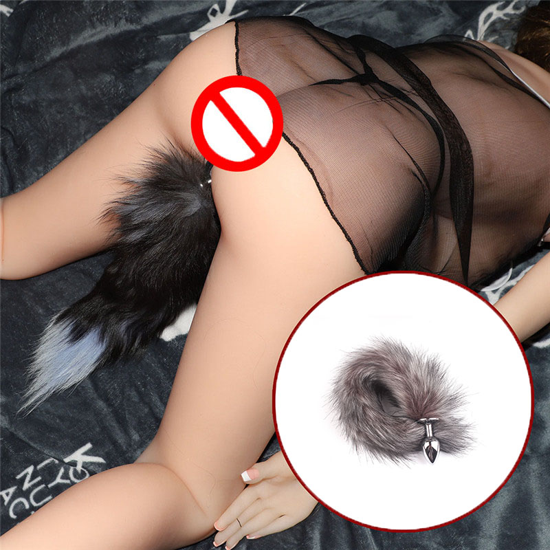Erotic Anal Fox Tail Anal Butt Plug Artificial Tail Sex Toys For Women Men Couples Adult Games Buttplug Sex Products Condoms