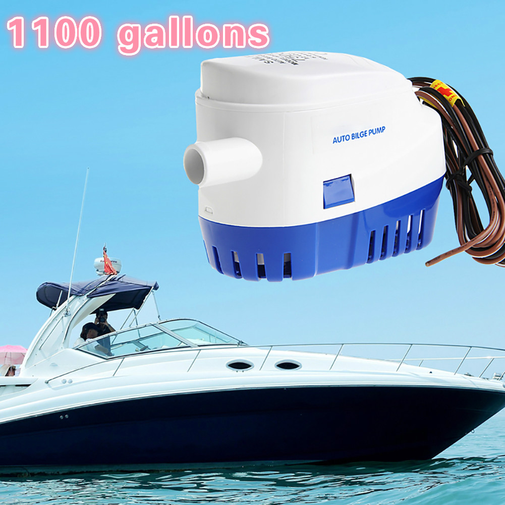 750GPH 1100GPH Automatic boat <font><b>bilge</b></font> <font><b>pump</b></font> 12V 24V DC submersible electric water <font><b>pump</b></font> small 12 v volt 750 <font><b>1100</b></font> <font><b>gph</b></font> auto image