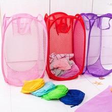 Складная сетчатая корзина большой емкости для грязной одежды, выдвижные корзины для белья, игрушечные бочки для хранения одежды, вентилиру...