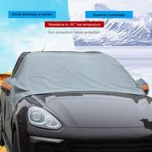 Automóvel pára-sol capa pára-brisa do carro neve sol sombra à prova dwaterproof água protetor capa do carro dianteiro pára-brisas capa acessórios do carro