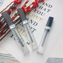 30/50 adet 5ml boş dudak parlatıcısı tüp ile değnek, siyah ruj tüpü, dudak parlatıcı şişesi gümüş yaka kozmetik ambalaj konteyner