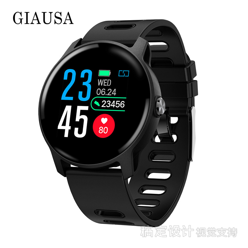 Business Fashion S08 Men Sport Pedometer Smart Watch IP68 Waterproof  Fitness Tracker Heart Rate Monitor Women Clock Smartwatch