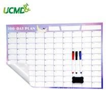 100 дней большие самоклеющиеся бумажные календари настенные наклейки стираемую ежедневник заметки офис школьные принадлежности учебные расписания