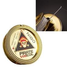 Пиратская катушка модные аксессуары Ni80 нагревательный провод пират 2 ядра Clapton с сопротивлением нарядное нагревательная проволока для электронная сигарета 3 м 40GA+ 2*26