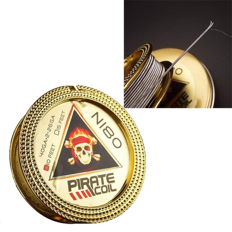 PIRATE COIL Fashion Accessories Ni80 Heating Wire Pirate 2 Core Clapton Fancy Heating Wire For Electronic Cigarette 3m 40GA+2*26